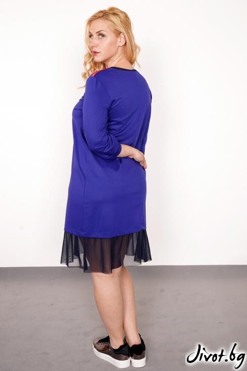 """Лилава рокля с тюл """"Lilac"""" /PIARET"""