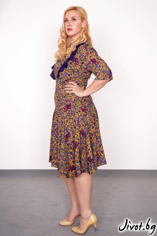 """Закачлива цветна рокля волани """"Cosmo"""" /PIARET"""