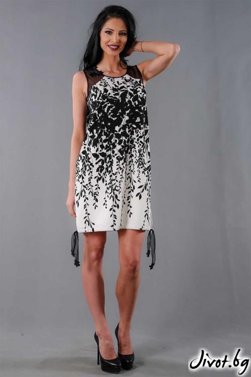 Лятна рокля в черно-бял нюанс /Ashante