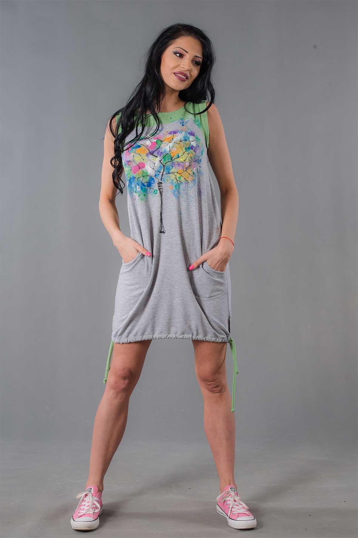 Ръчно рисувана лятна рокля /Ashante