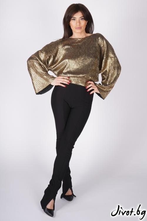 """Златна блуза """"GOLD""""/ShuShi"""