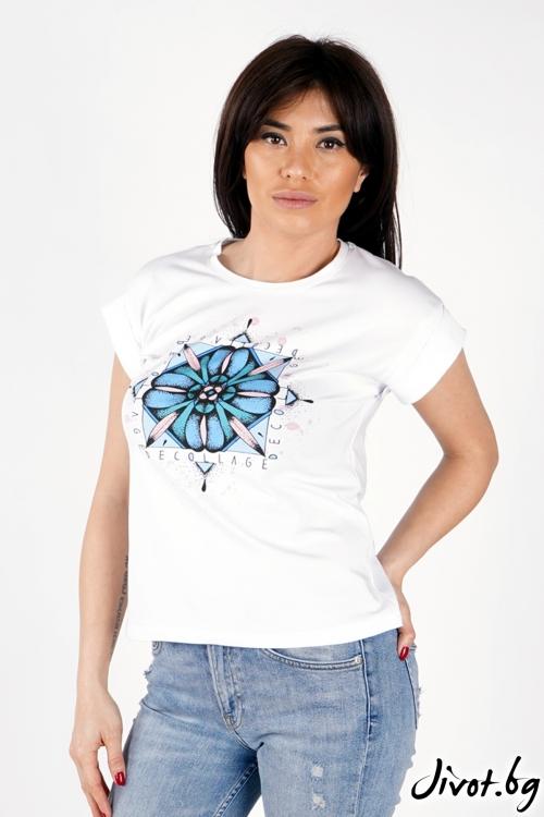 "Дамска тениска ""Decorative""/ Décollage"
