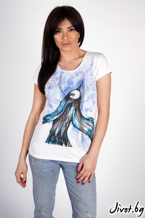 """Дамска тениска """"Bird""""/ Décollage"""