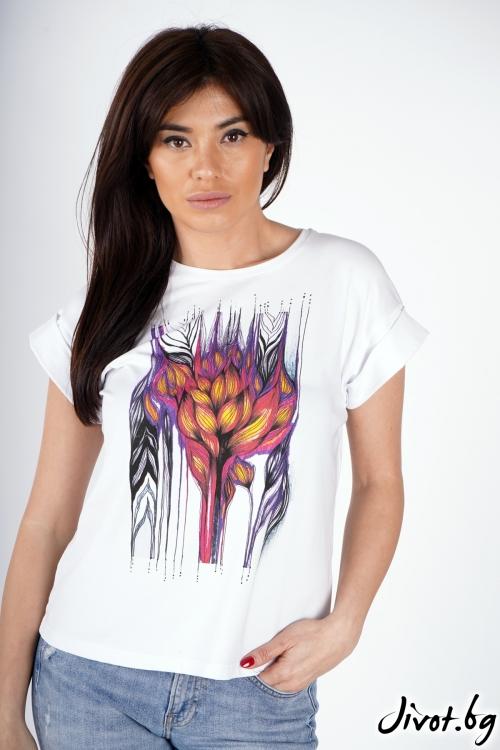 """Дамска тениска """"Colors"""" / Décollage"""