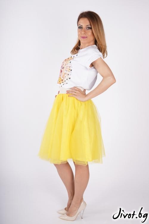 Жълта тюлена пола / SHUSHI
