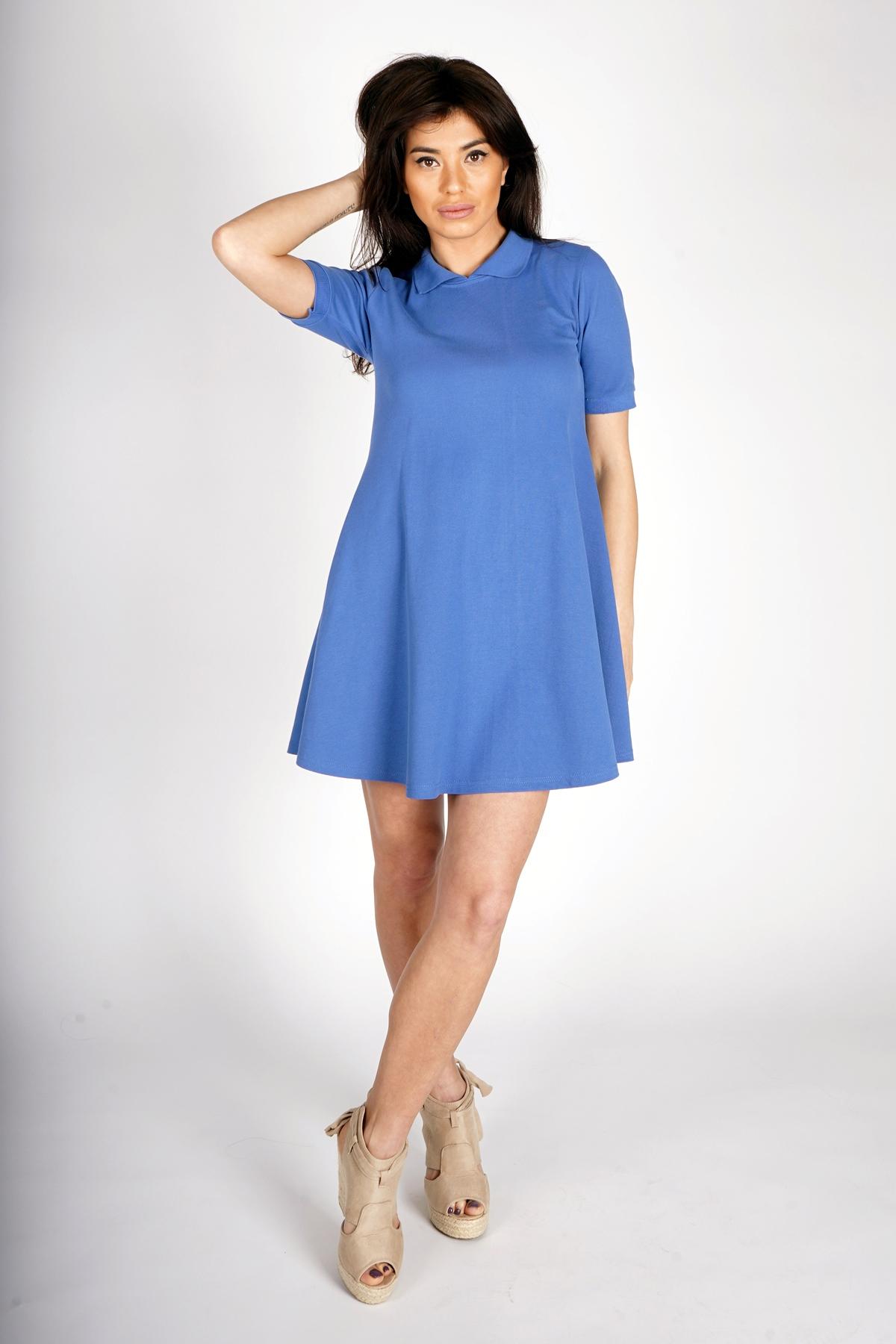 """Къса синя рокля """"Costansa"""" / OTIVA"""