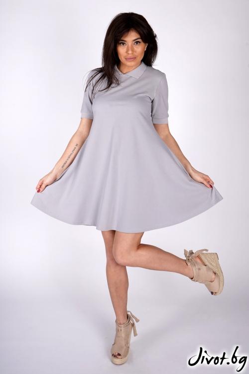 """Къса сива рокля """"Costansa"""" / OTIVA"""