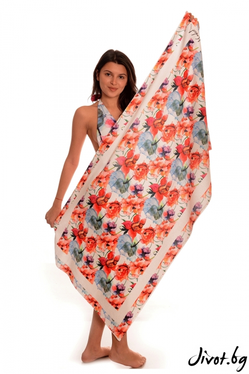 Плажна кърпа Flower bomb / Modera