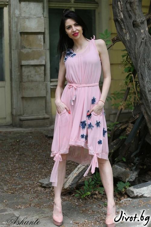"""Модерна рокля """"Цветчета""""/Ashante"""