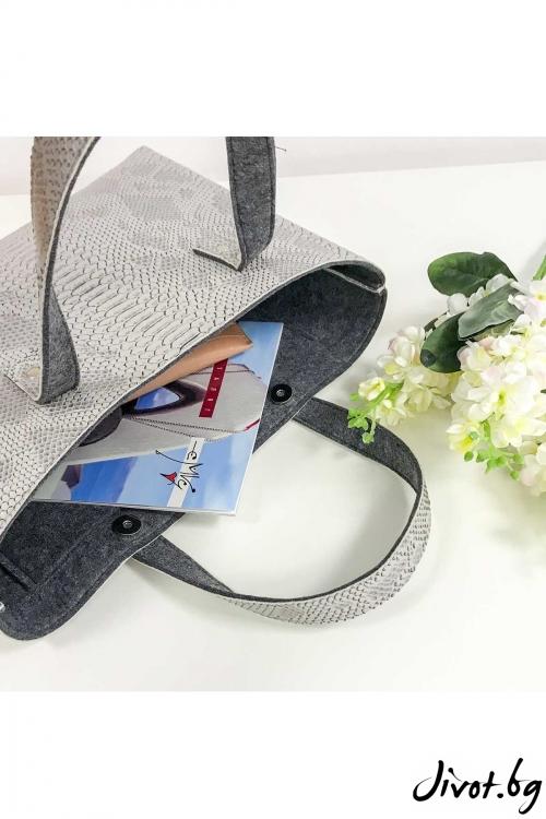 """Чанта от изкуствена кожа и филц """"Totes"""" / EMVy"""