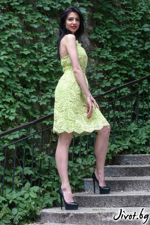 "Красива рокля ""Лайм""/Ashante"
