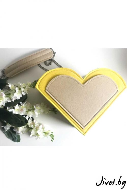 """Чанта """"LoLi love"""" със сменяеми сърца / EMVy"""
