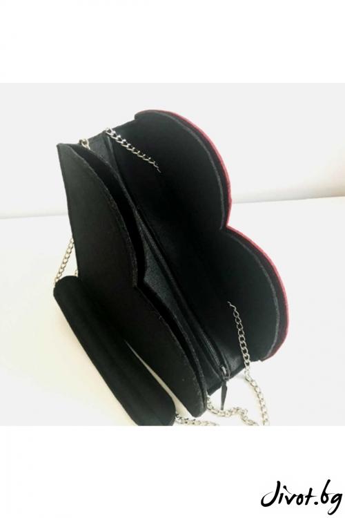 """Чанта """"LoLa love"""" със сменяеми сърца / EMVy"""