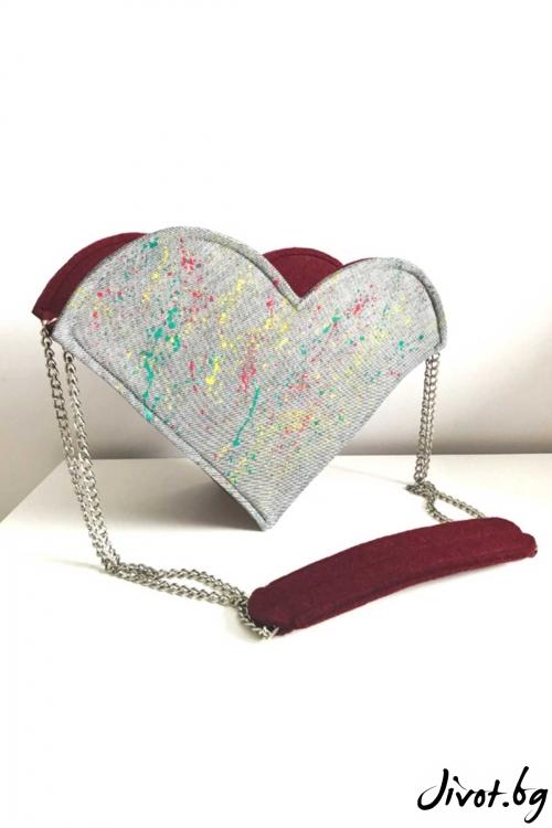 """Чанта """"LoLо love"""" със сменяеми сърца / EMVy"""