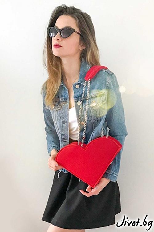 """Чанта """"LoLy love"""" със сменяеми сърца / EMVy"""