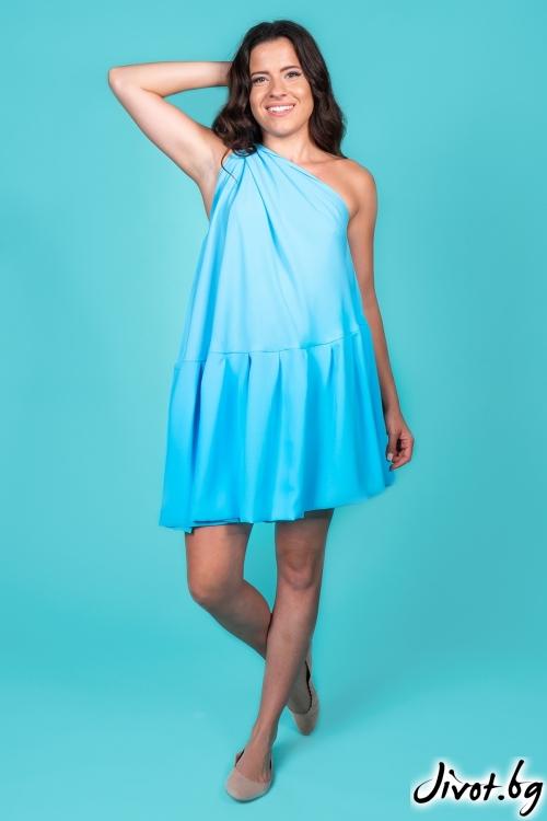 """Дамска рокля """"Dreams in blue""""/Shushi"""