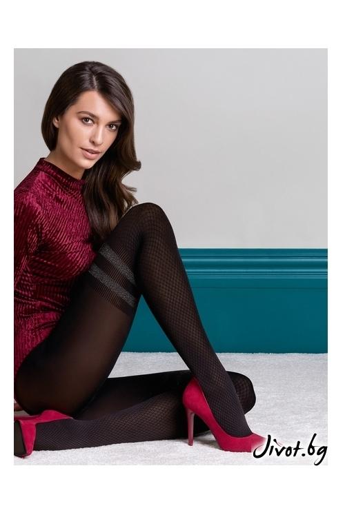 Плътен чорапогащник имитиращ 7/8 чорапи Kate /447